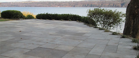Natural Bluestone Patio Construction